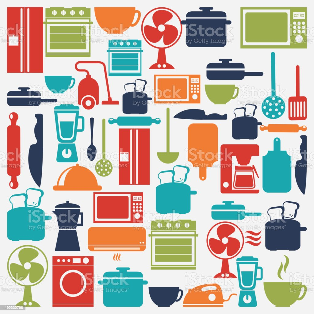 Appliances design vector art illustration