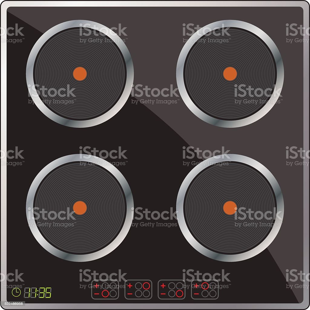 Appliances. Modern cooking panel. Vector Image. vector art illustration
