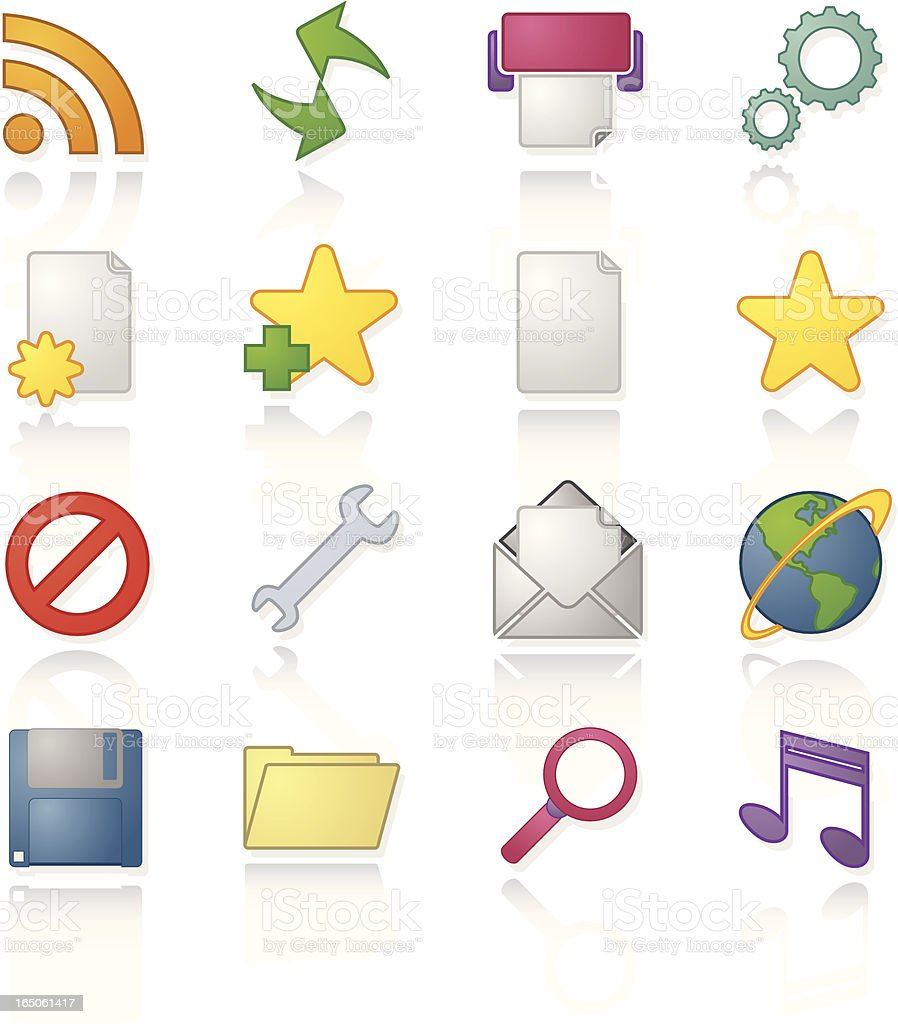 Application and Web Icons royalty-free stock vector art