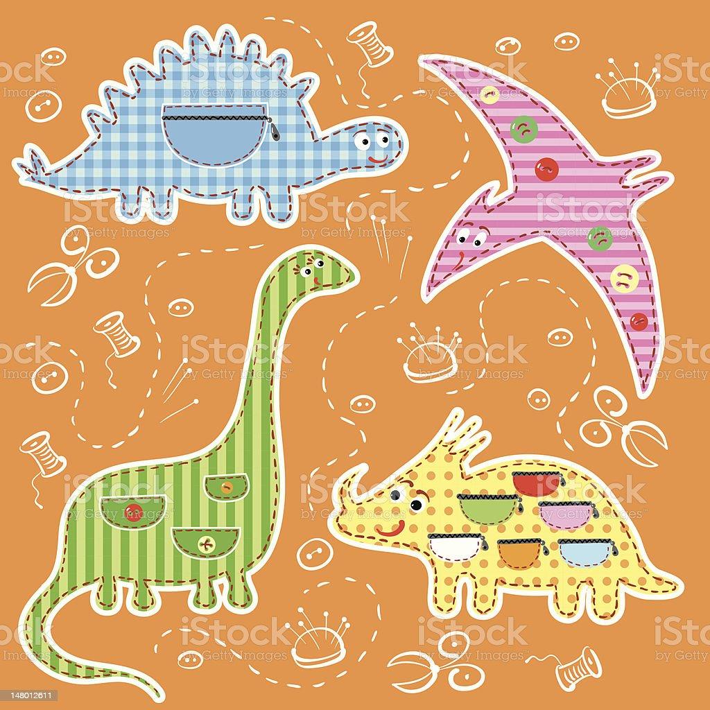 Application dinosaurs. vector art illustration