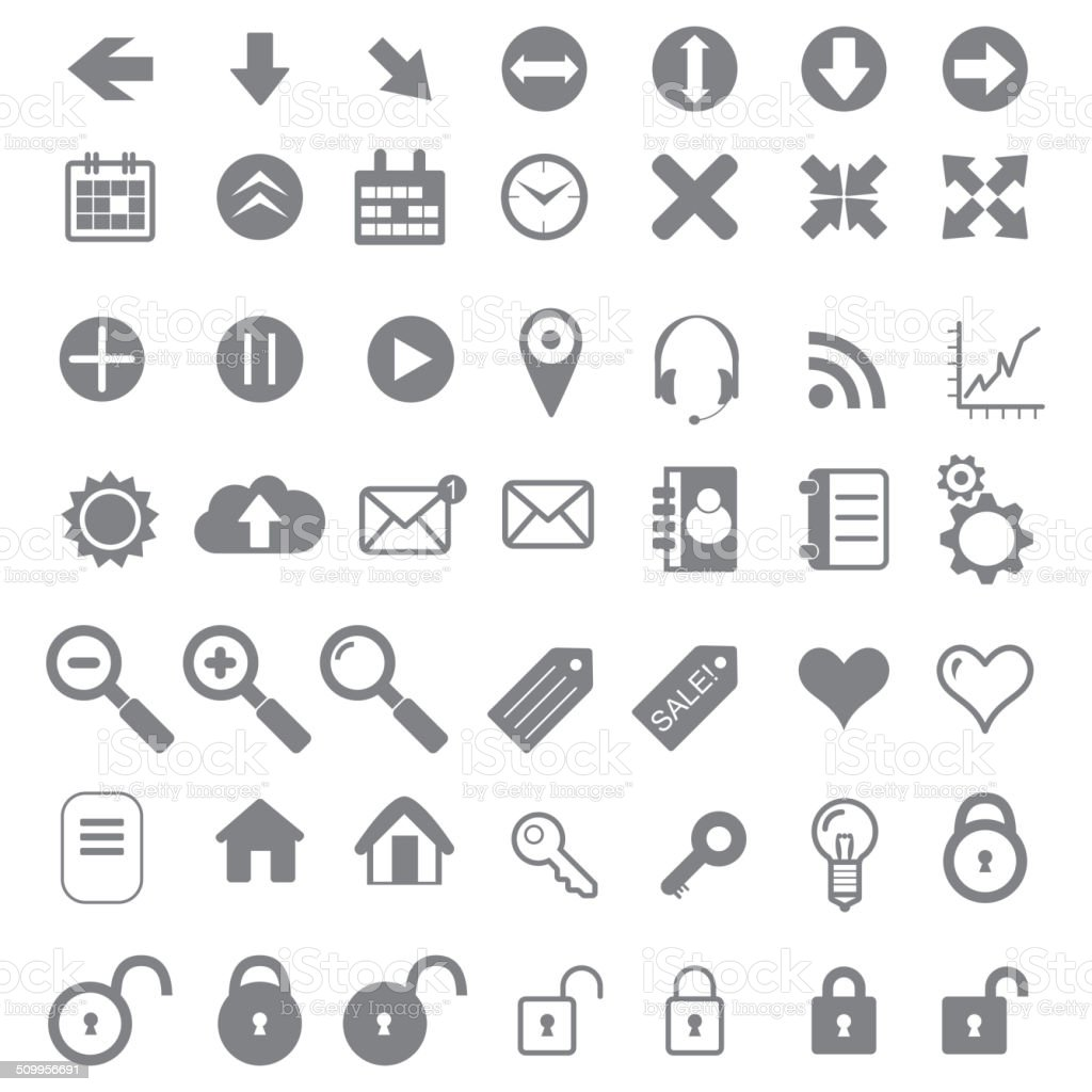 Application Icons for Web and Mobile. vector art illustration