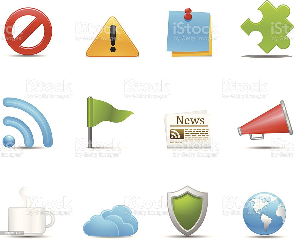 Application Icons royalty-free stock vector art