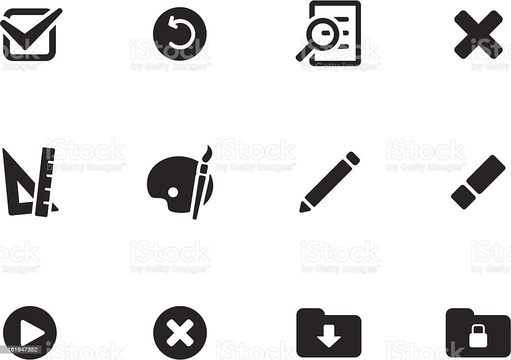 Application icons vector art illustration