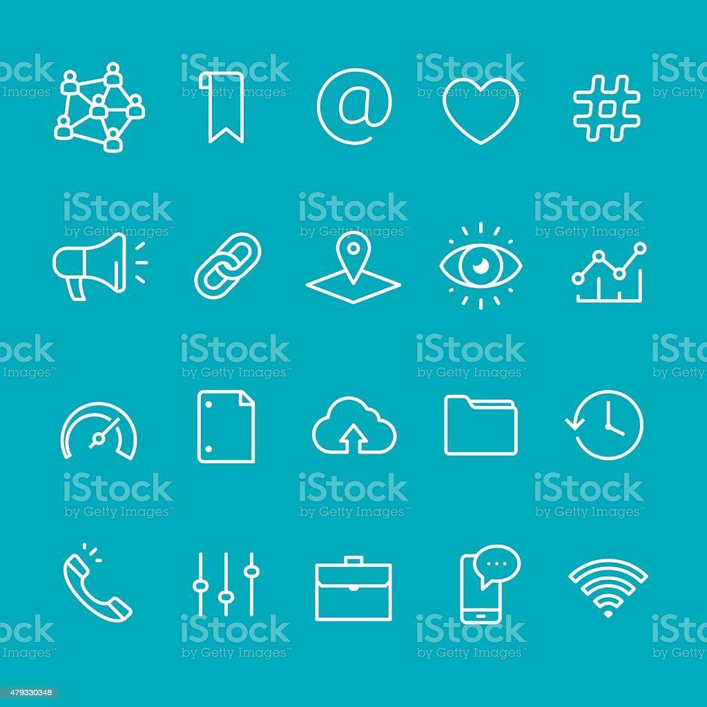 Application UI vector stroke icons vector art illustration