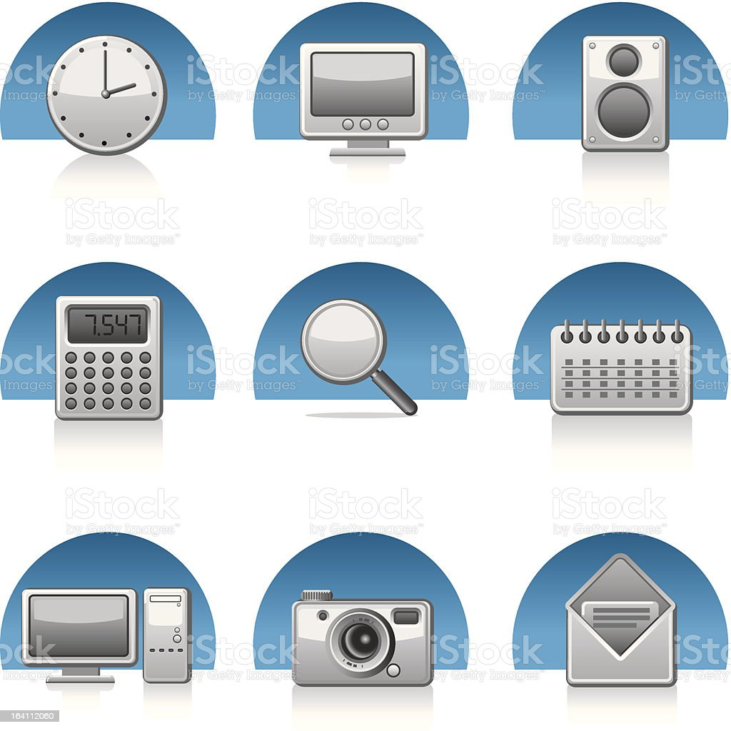 applications icon royalty-free stock vector art