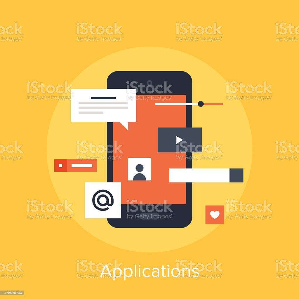 Applications vector art illustration
