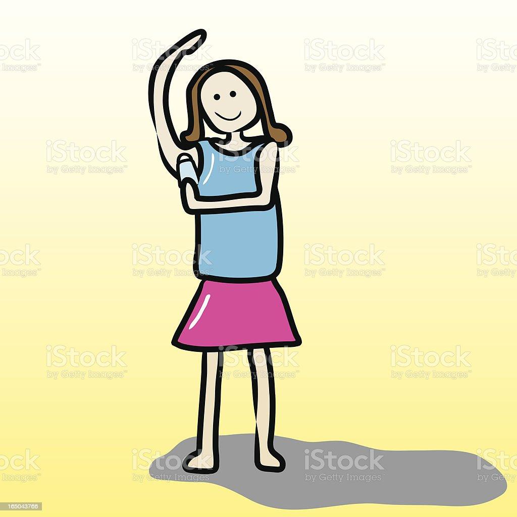 Applying Deodorant vector art illustration