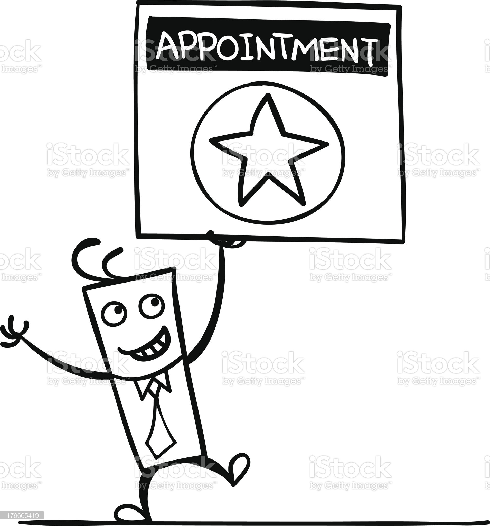 Appointment royalty-free stock vector art