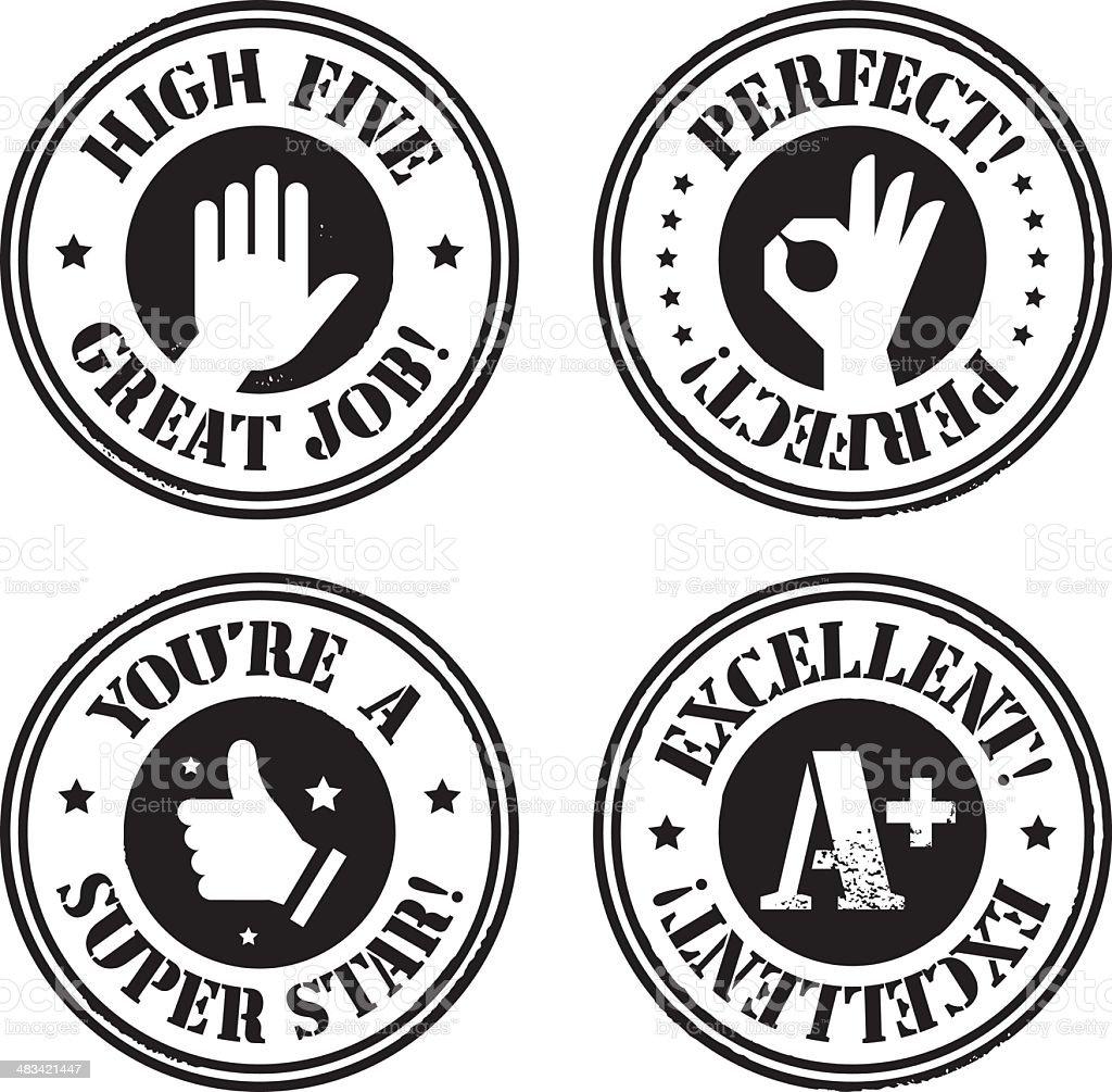Approval Stamps vector art illustration