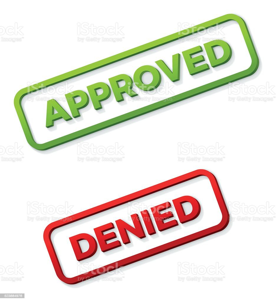 Approved and Denied Stamps vector art illustration