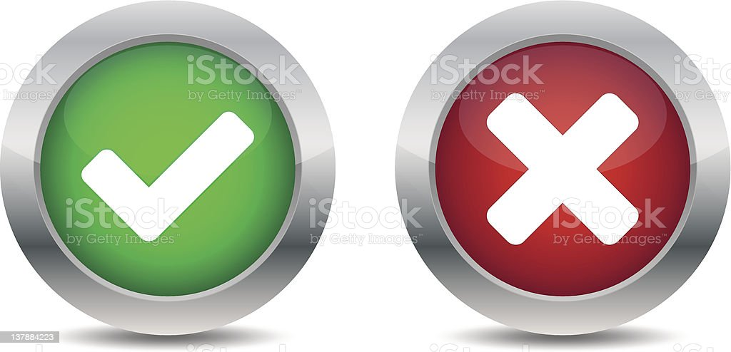 Approved and rejected buttons royalty-free stock vector art