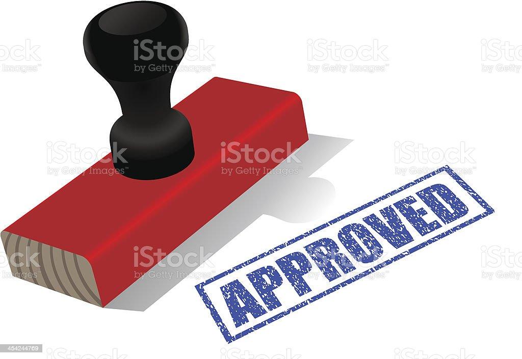 Approved stamp vector art illustration