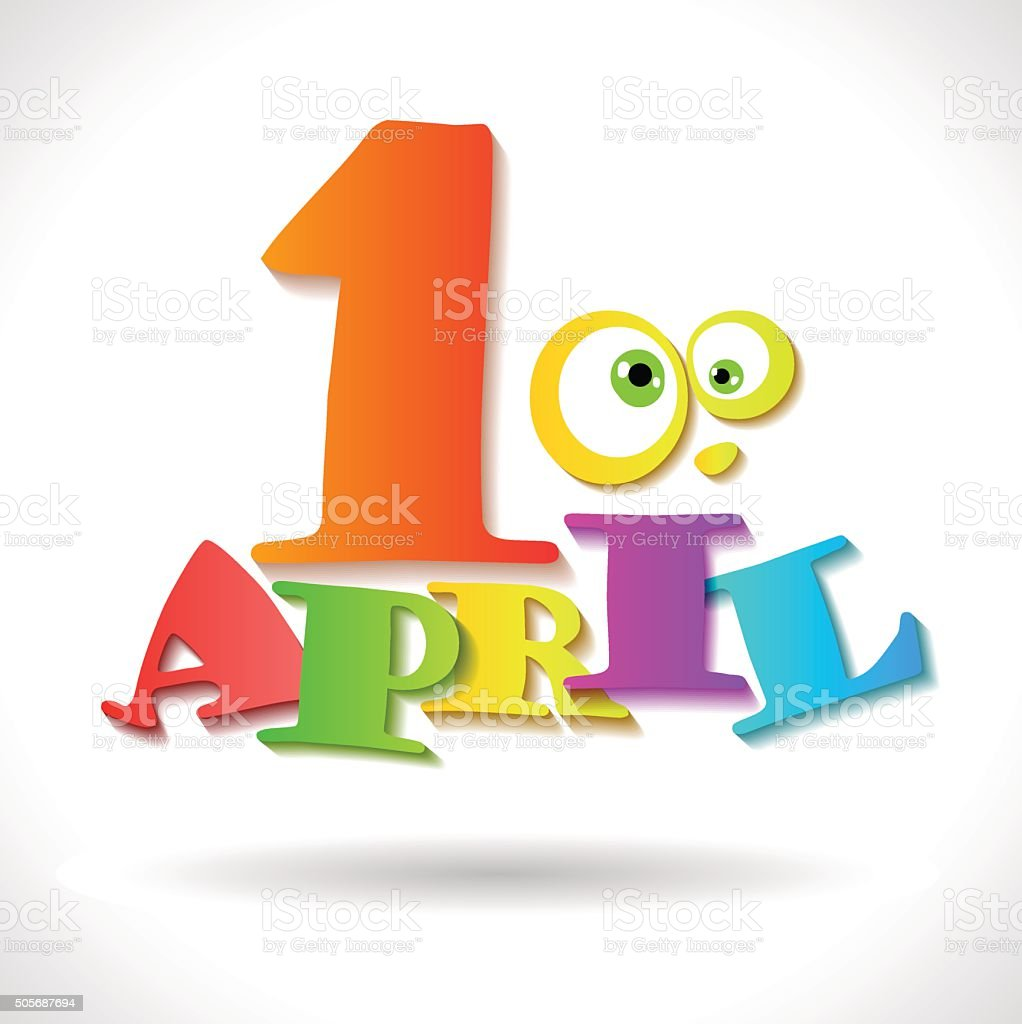 April 1 holiday - April Fool's Day vector art illustration