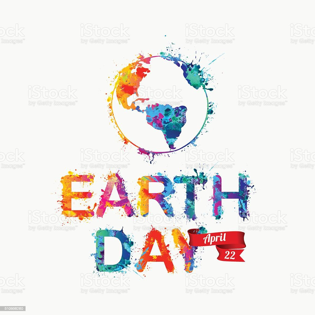 EARTH DAY. April 22 vector art illustration