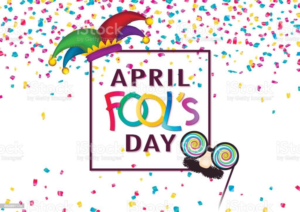 April Fool's Day background. vector art illustration