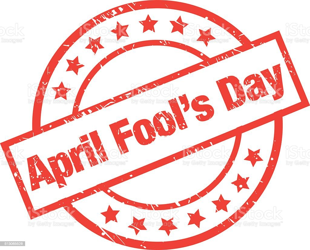 April Fool's Day Label vector art illustration