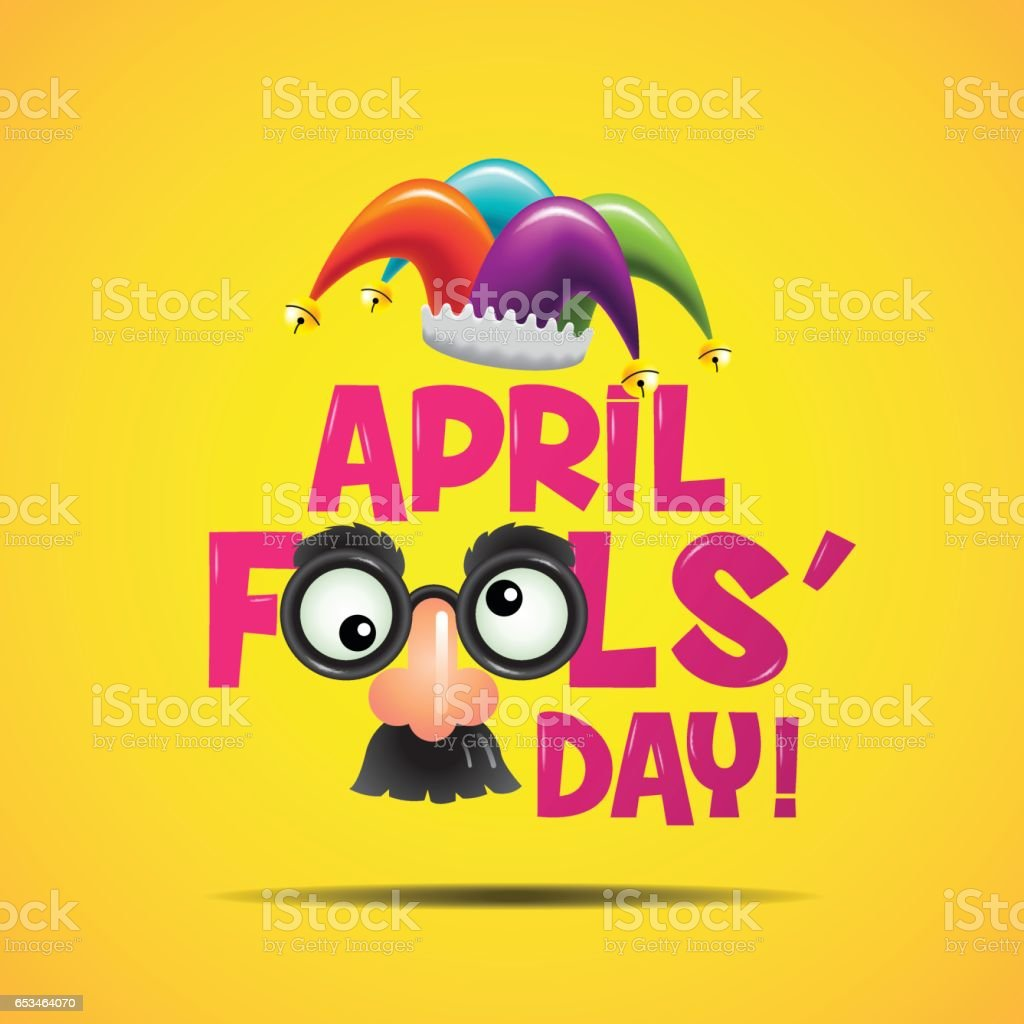 April fool's day, Typography, Colorful, vector illustration. vector art illustration