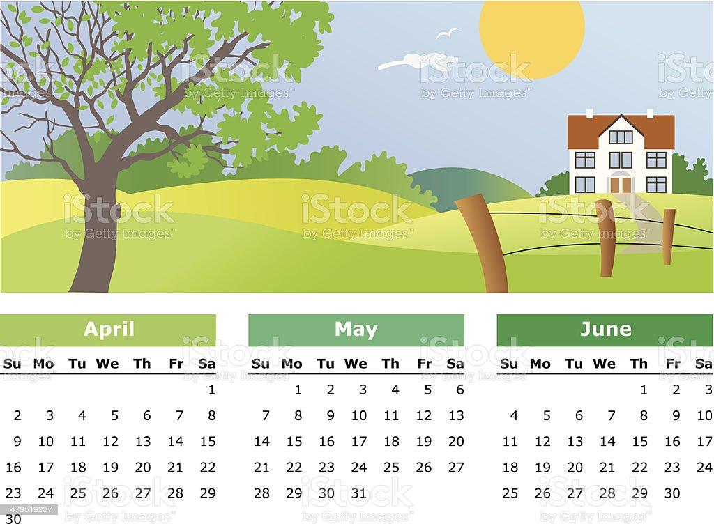 April, may, june - 2006 royalty-free stock vector art