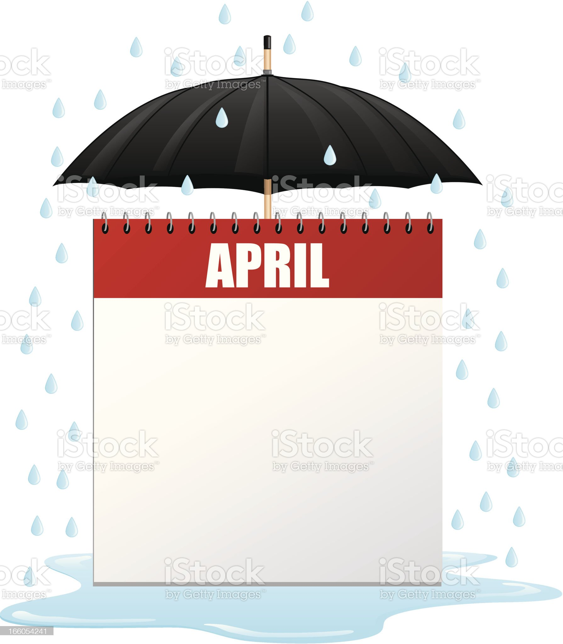 April Showers Calendar royalty-free stock vector art