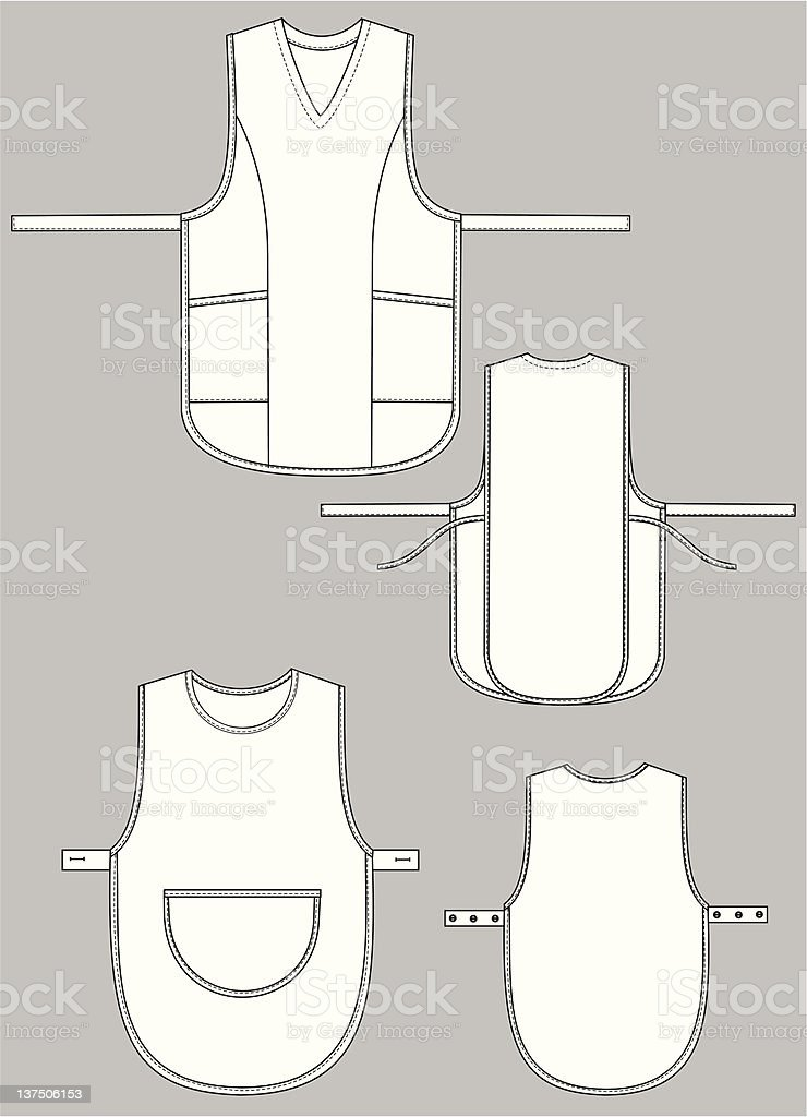Apron royalty-free stock vector art
