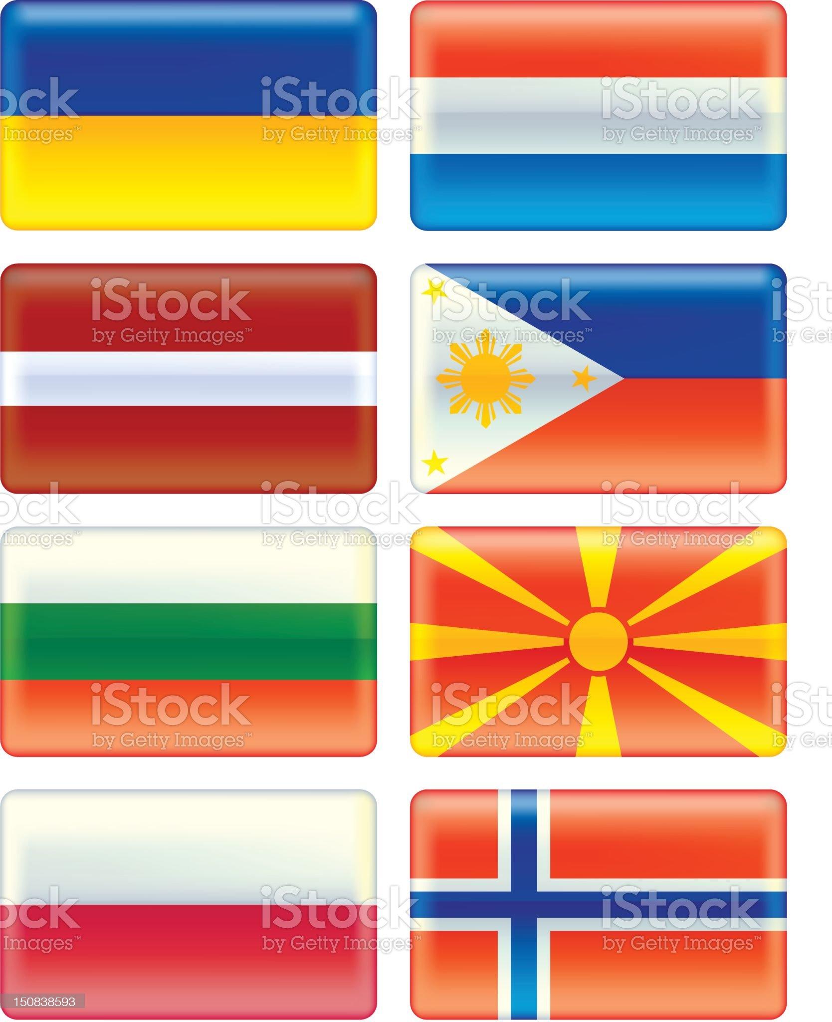 Aqua flags set 6 royalty-free stock vector art