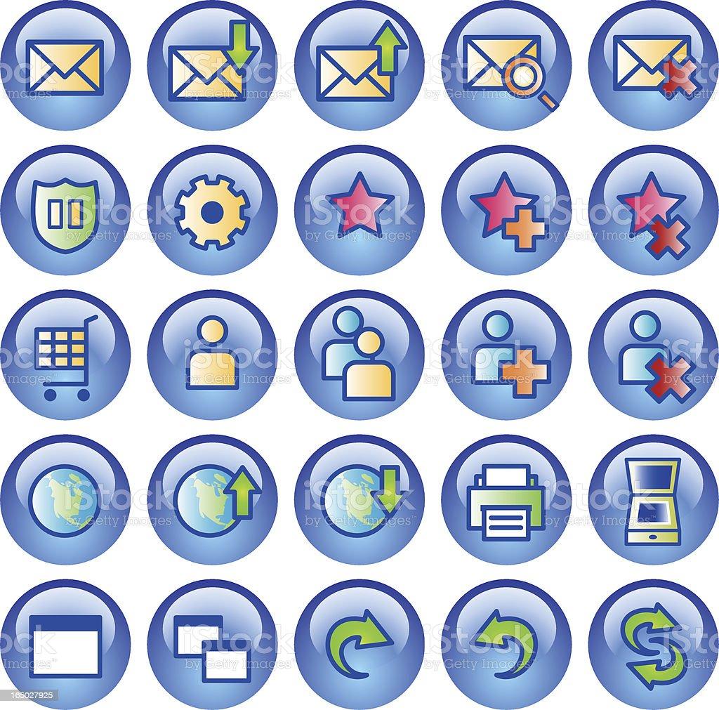 Aqua Icons - set 2 royalty-free stock vector art