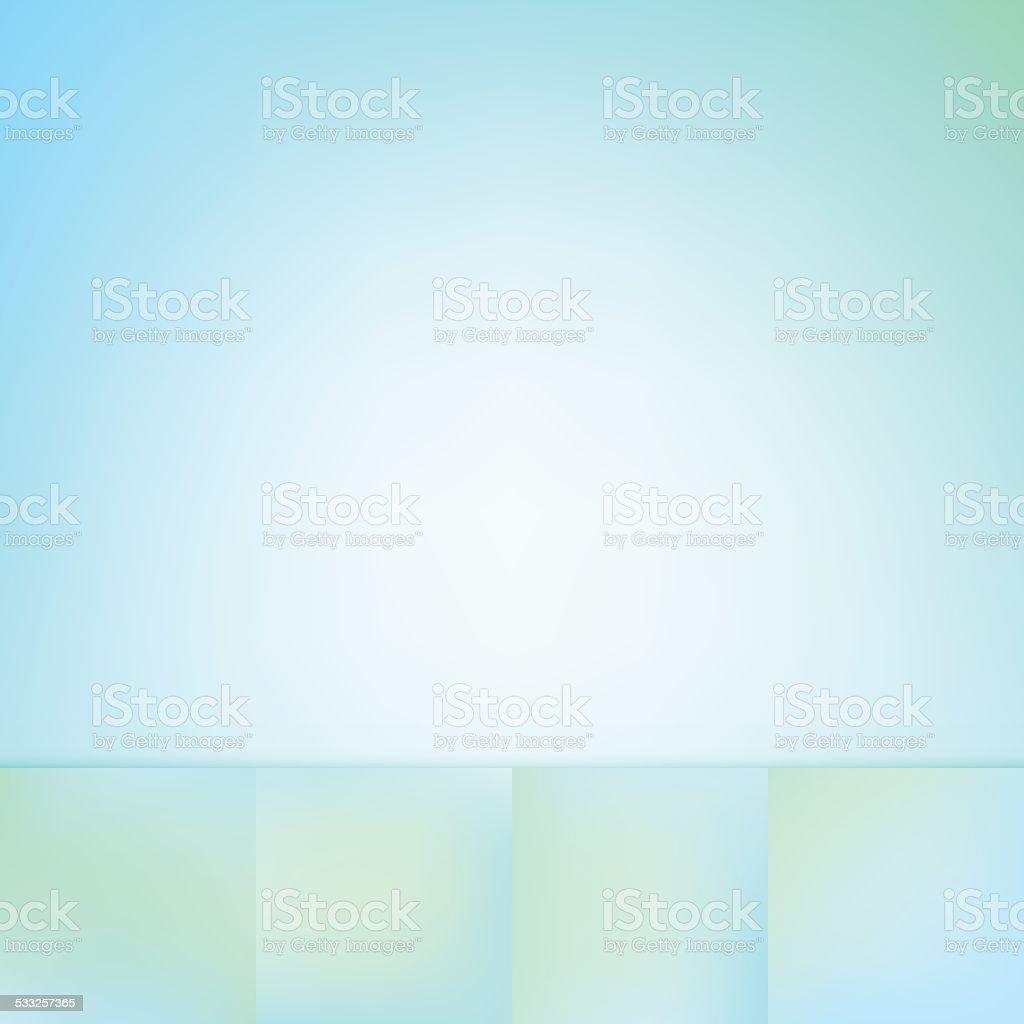 Aqua Soft Defocus Blue Green Color Gradient Vector Background Collection vector art illustration
