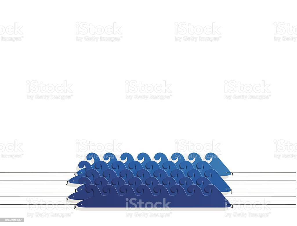 aqua style sticker on the ropes royalty-free stock vector art