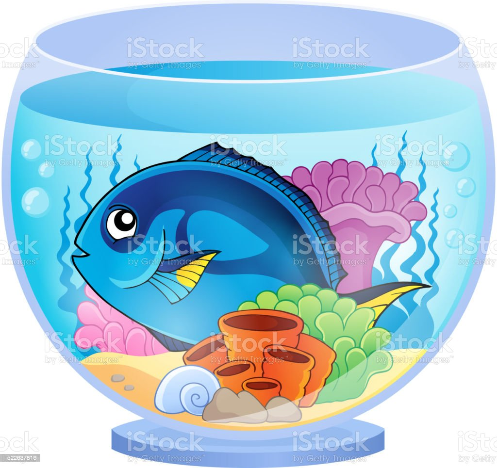 Aquarium topic image 5 vector art illustration