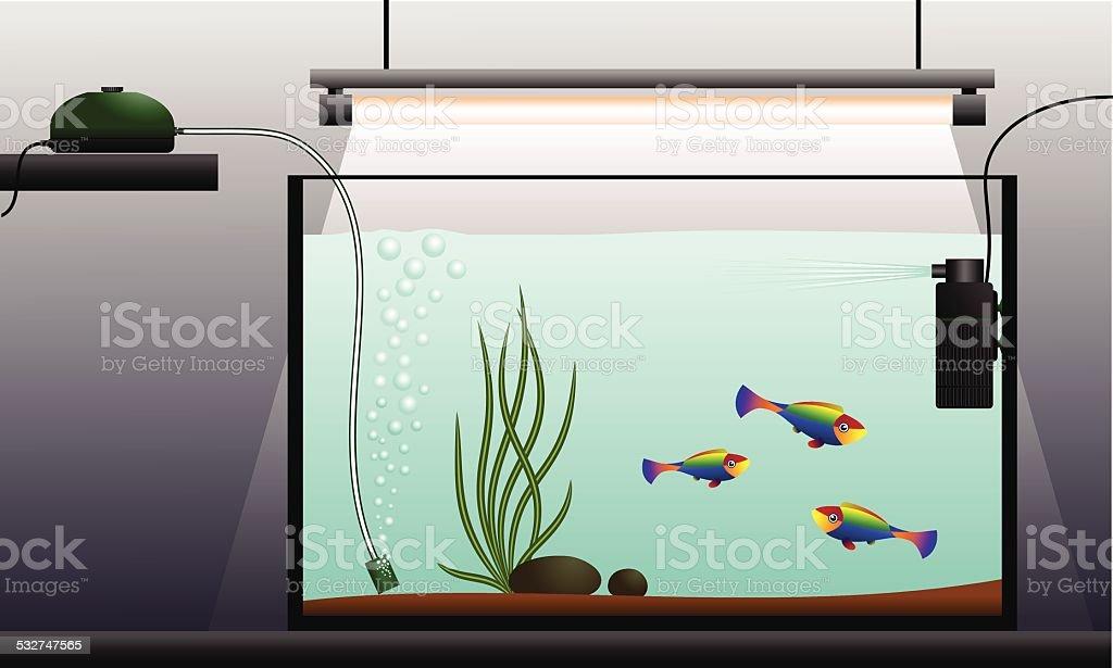 Aquarium. vector art illustration