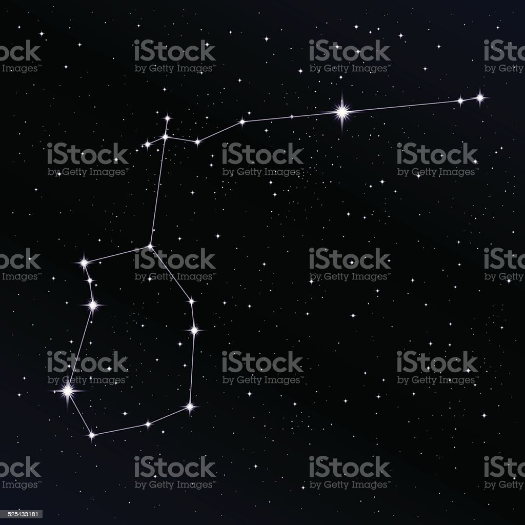 Aquarius constellation vector art illustration