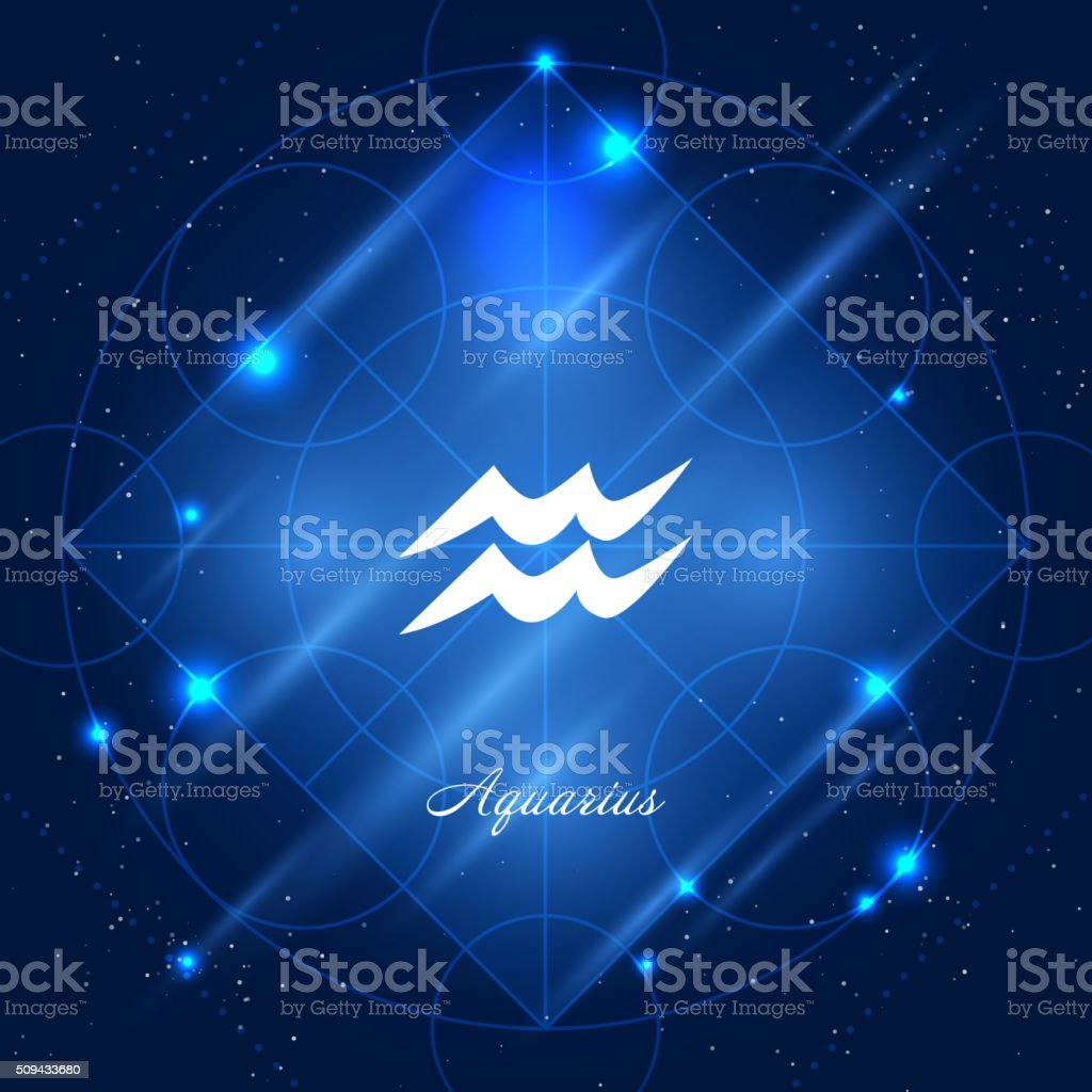 Aquarius sign of the zodiac vector art illustration