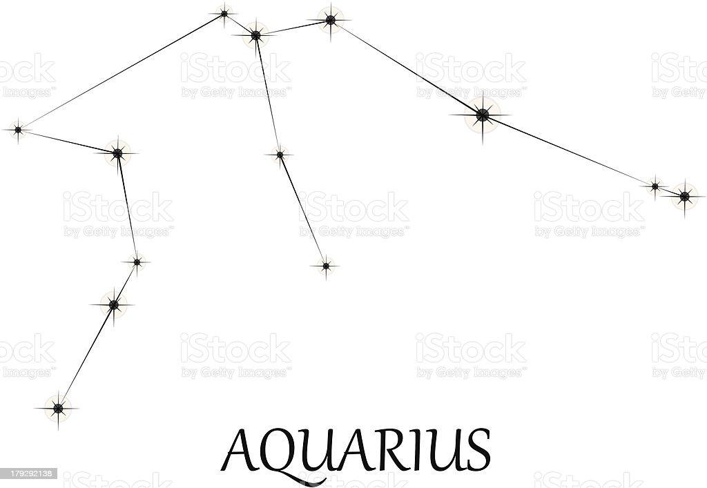 Aquarius Zodiac sign royalty-free stock vector art