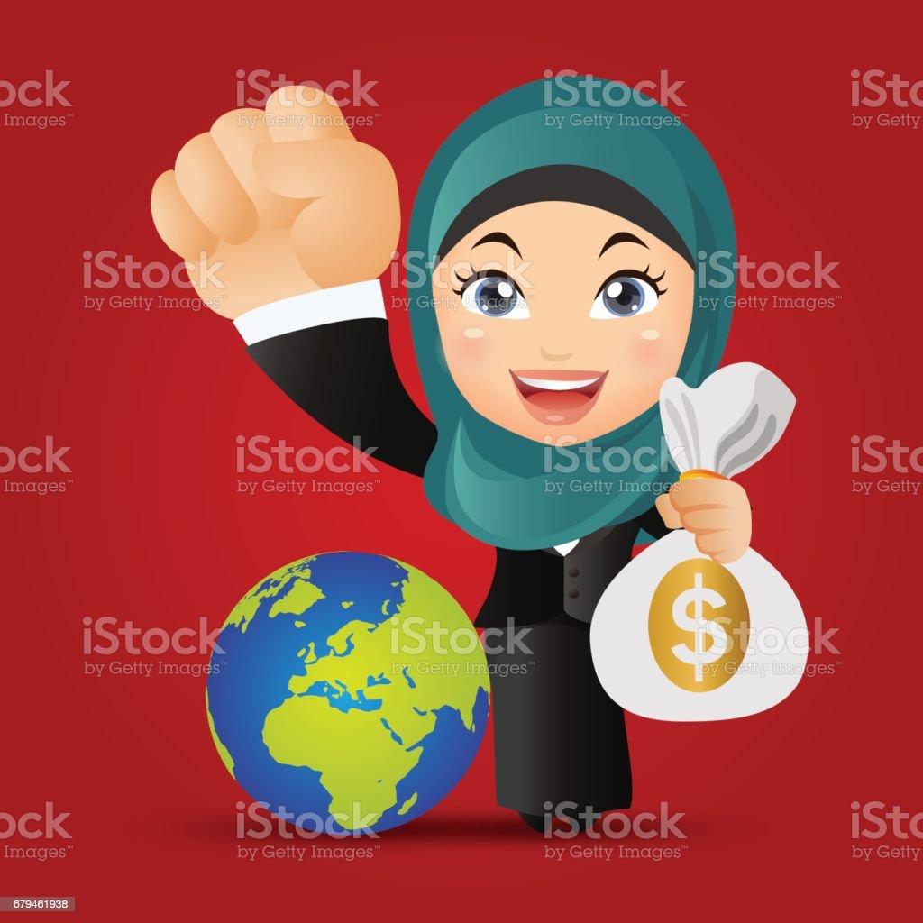 Arab Business people vector art illustration