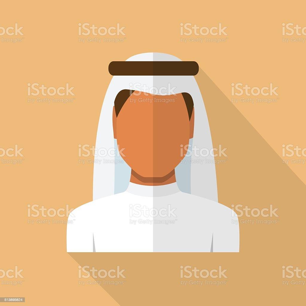 Arab Man Avatar vector art illustration