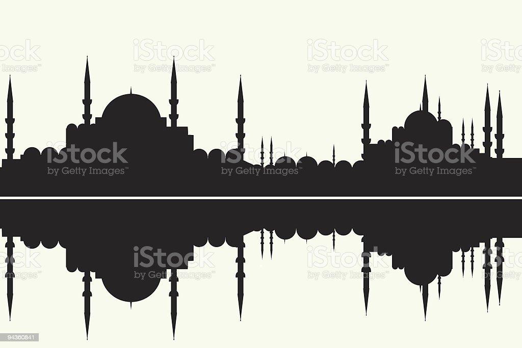 arabesque cityscape royalty-free stock vector art