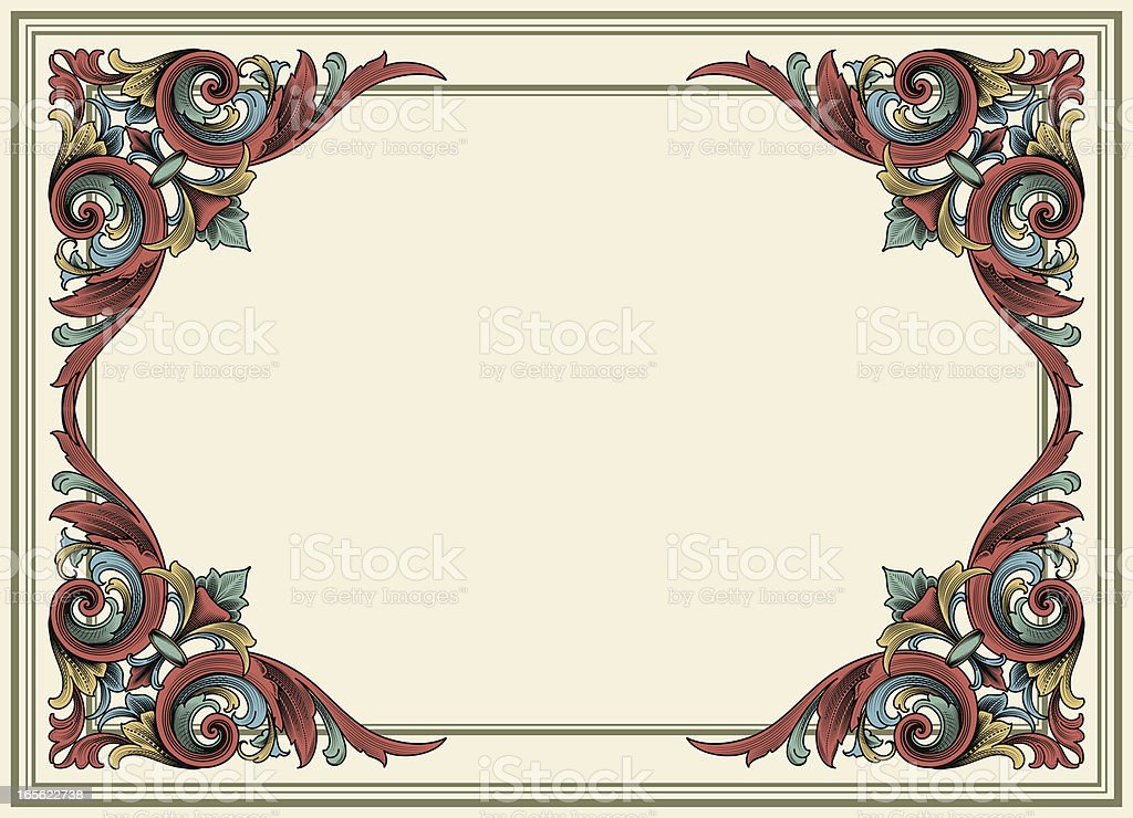 Arabesque Color Banner Set royalty-free stock vector art