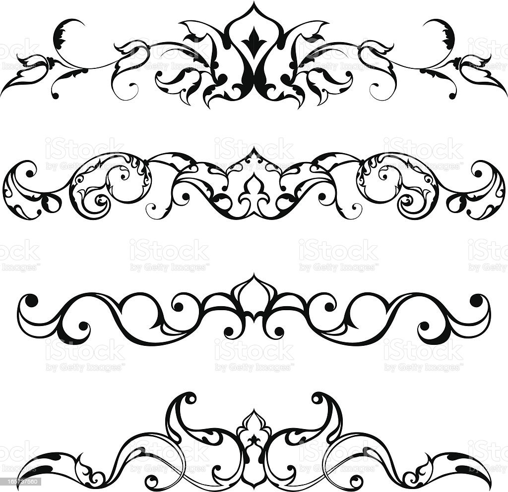 Arabesque Decoration vector art illustration