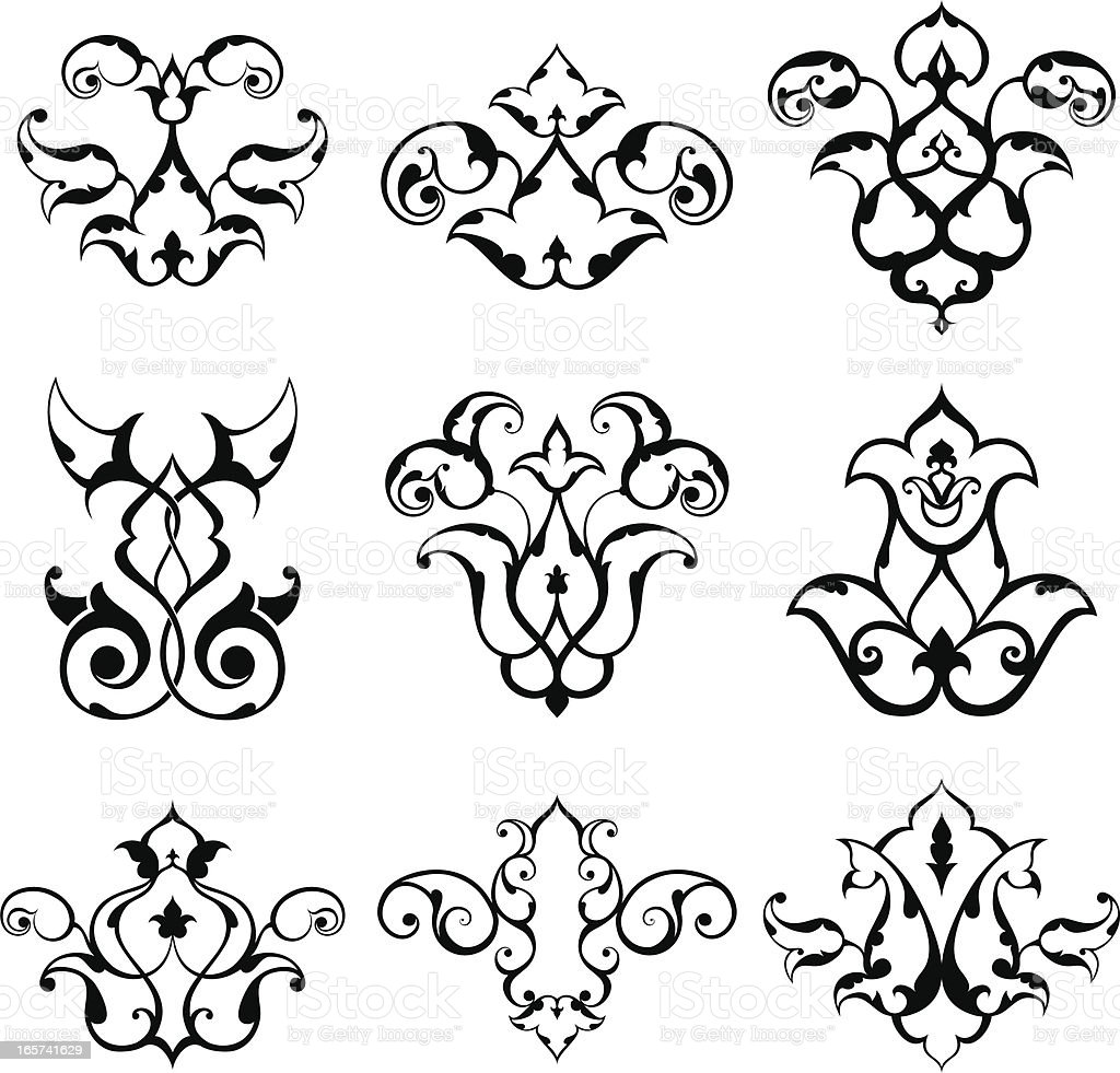 Arabesque  Elements vector art illustration