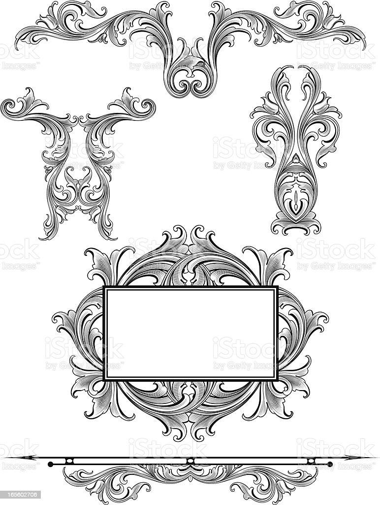 Arabesque Flow Set royalty-free stock vector art