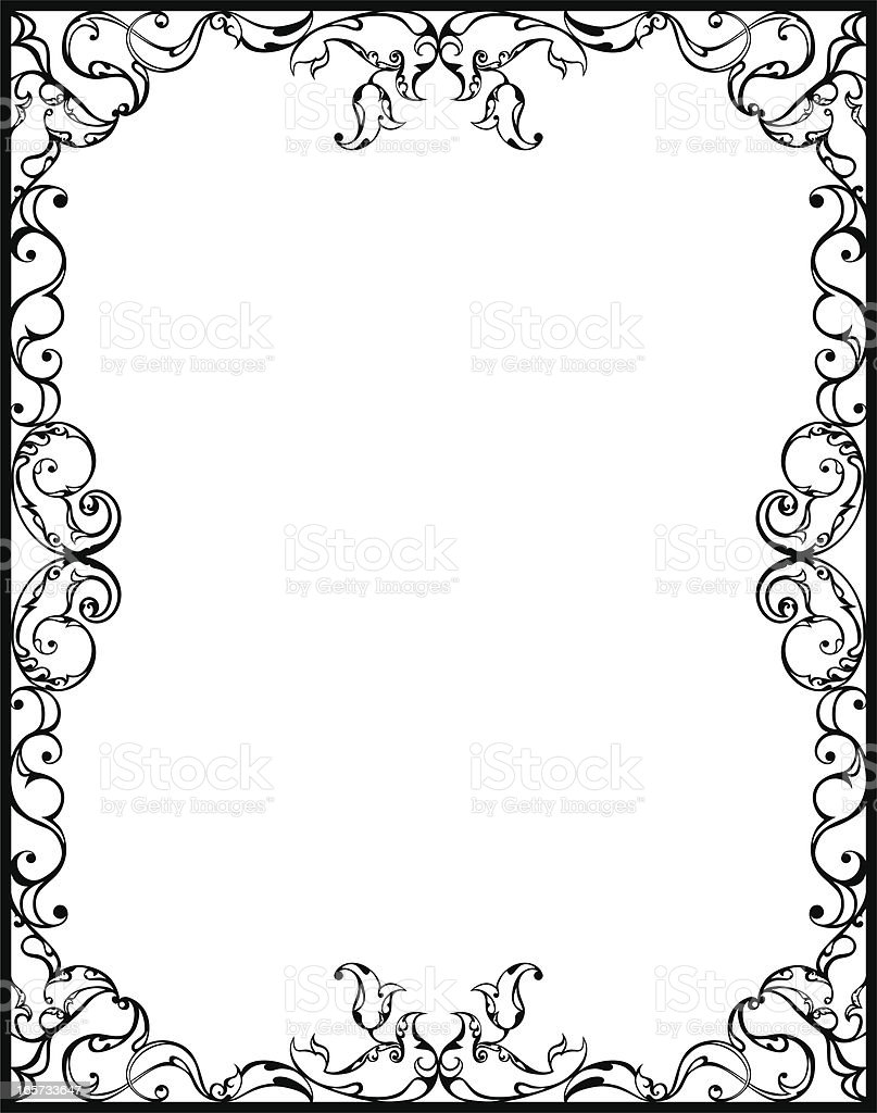 Arabesque Frame vector art illustration