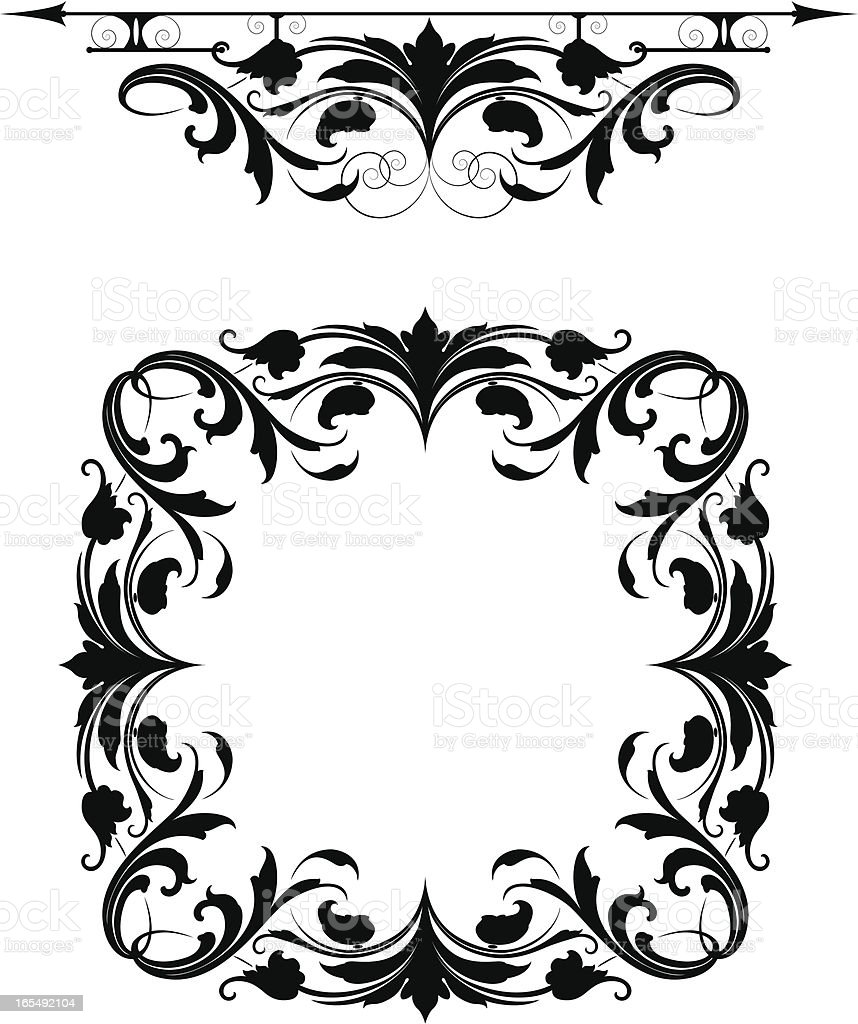 Arabesque Rule and Frame royalty-free stock vector art