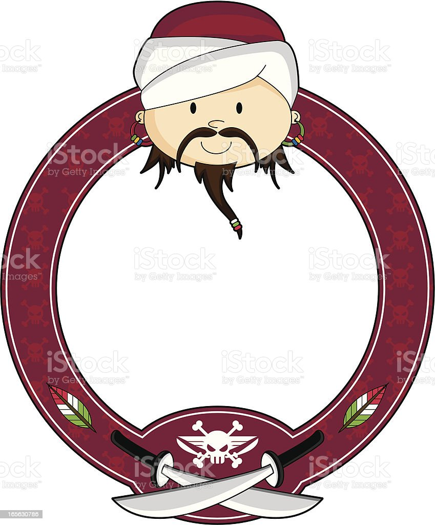 Arabian Pirate Frame royalty-free stock vector art