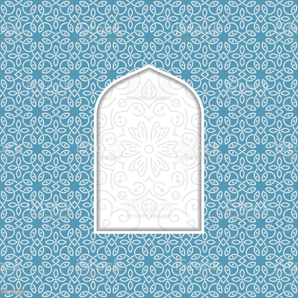 arabian window vector art illustration