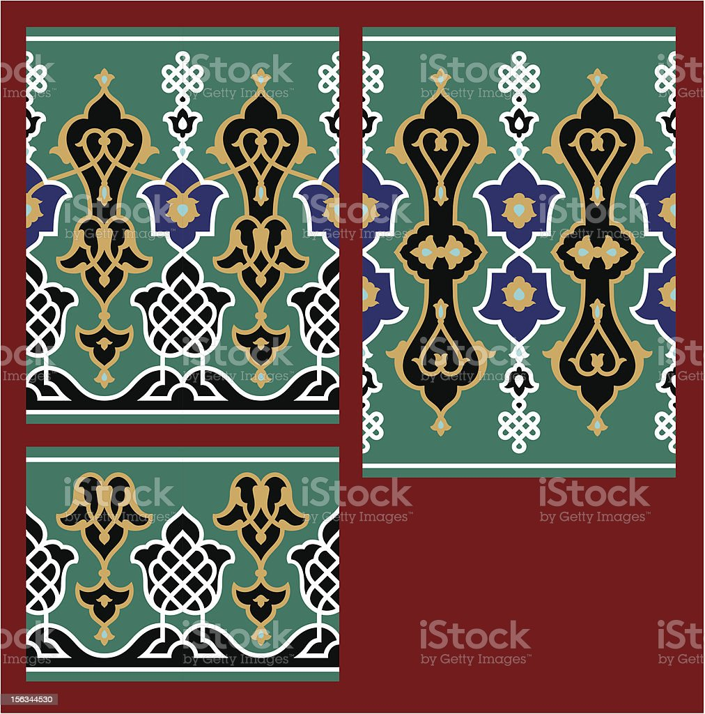Arabic Floral Seamless Border royalty-free stock vector art