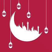 Arabic holy month. Muslim holiday. Eid al-Adha, Eid al-Fitr, Al-Hijra.