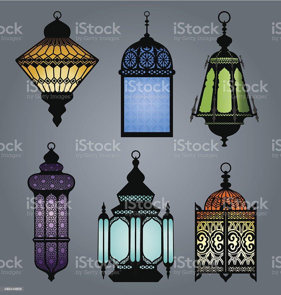 Arabic Lantern part 2 - Illustration vector art illustration