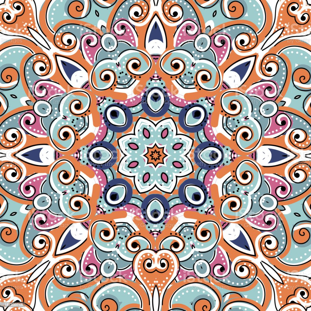 Arabic ornament, seamless pattern for your design royalty-free stock vector art