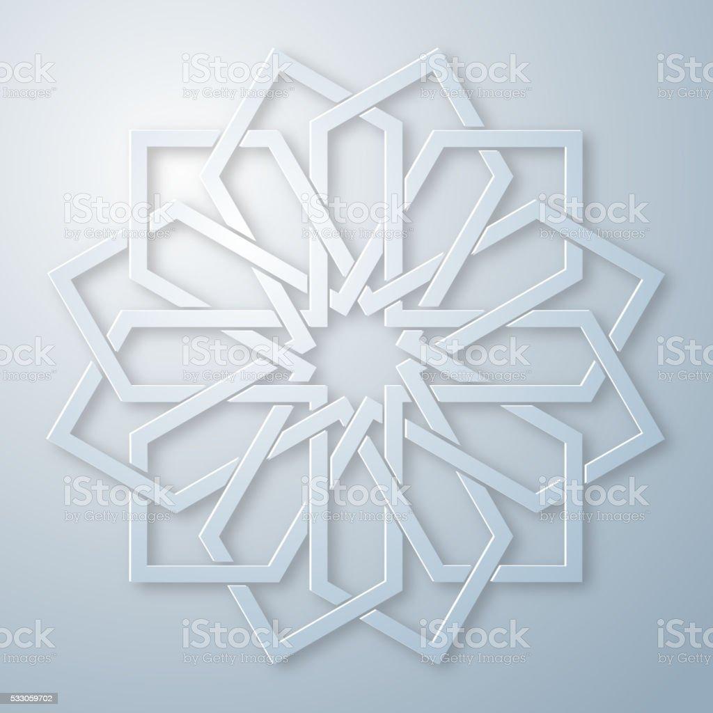 Arabic ornament vector art illustration