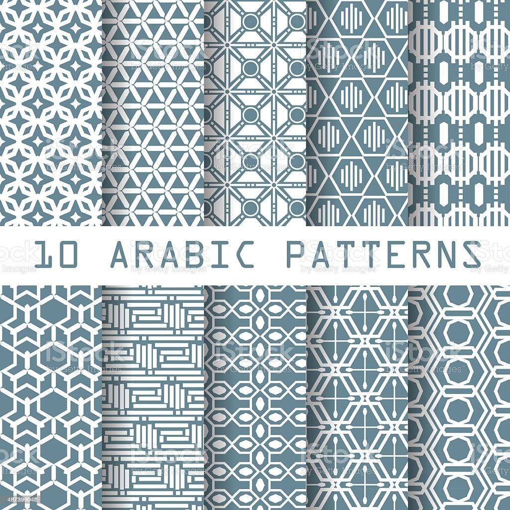 arabic patterns vector art illustration